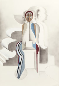 ARNOLD BELKIN (Canadian/American, 1930-1992) Untitled, 1970 Mixed media on paper 40 x 27-1/2 inc