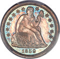 Proof Seated Dimes, 1859 10C PR65 Cameo PCGS. CAC. Fortin-101....