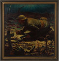 Military & Patriotic:WWI, Doughboy Painting by Noted Illustrator Rudolph Belarski....