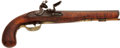 Military & Patriotic:Revolutionary War, 18th Century American Curly Maple Stock Original Flintlock Pistol...