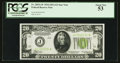 Fr. 2054-J* $20 1934 Light Green Seal Federal Reserve Note. PCGS About New 53