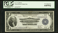 Fr. 717 $1 1918 Federal Reserve Bank Note PCGS Very Choice New 64PPQ