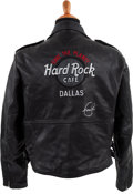 Music Memorabilia:Autographs and Signed Items, Eric Clapton Signed Biker's Jacket, Circa 1990s....
