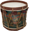 Military & Patriotic:Civil War, Civil War U.S. Regulation Eagle Snare Drum ...