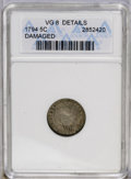 Early Half Dimes: , 1794 H10C --Damaged--ANACS. VG8 Details. V-1, LM-1, R.6. The rarestof the four die marriages known for the date. The first ...