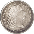 Early Half Dimes: , 1794 H10C --Corroded--NCS. XF Details. V-4, LM-4, R.4. A splendidlydetailed example of the short-lived Flowing Hair type, t...