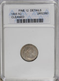 Early Half Dimes: , 1805 H10C --Cleaned--ANACS. Fine 12 Details. V-1, LM-1, R.4. Theonly dies for this underrated issue. A somewhat wavy pearl-...