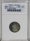 Early Dimes: , 1802 10C --Repaired--ANACS. Fine 12 Details. JR-4, R.4. The reversedenticles near 12 o'clock are re-engraved, and marks aff...