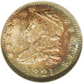 Bust Dimes: , 1821 10C Large Date MS66 NGC. JR-5, R.3. This is an extraordinaryopportunity for the advanced specialist. Although the JR-...