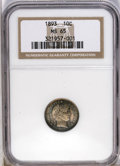 Barber Dimes: , 1893 10C MS65 NGC. Cobalt-blue, lavender, and gray patination onthe obverse yields to a dominance of cobalt-blue sprinkled...