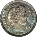 Barber Dimes: , 1899 10C MS66 PCGS. The early P-mint Barber dimes are moredifficult in the higher Mint State grades than is generally ackn...