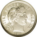 Barber Dimes: , 1911 10C MS67 NGC. This is a common date that will appeal to boththe date collector and the type collector. A frosty and h...