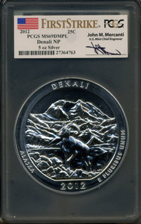 2012 25C Acadia Five-Ounce Silver MS69 Prooflike PCGS. Ex: Signature of John M. Mercanti, 12th Chief Engraver of the U.S...