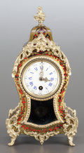 Decorative Arts, French:Other , A FRENCH BOULLE CLOCK WITH GILT BRONZE MOUNTS . Maker unknown, 19thcentury. Marks: 676, 4, 1. 12-1/4 x 6-5/8 x 3-3/4 in...