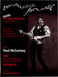 Music Memorabilia:Autographs and Signed Items, Paul McCartney Signed Rockline Promo Ad for Tripping the LiveFantastic (Capitol/ Global Satellite Network, 1990)....