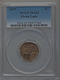 Flying Eagle Cents, 1857 1C MS63 PCGS....