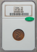 Proof Indian Cents, 1898 1C PR65 Red NGC. CAC....