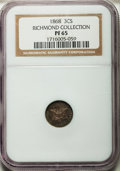 Proof Three Cent Silver, 1868 3CS PR65 NGC....