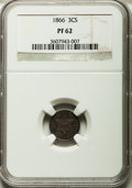 Proof Three Cent Silver, 1866 3CS PR62 NGC....
