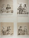 """Miscellaneous:Ephemera, [Habsburgs]. Group of Four Lithographs of Austrian Habsburg Rulers.10"""" x 26"""", in German. Lithographic Institute of Vienna. ..."""