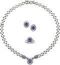 Estate Jewelry:Suites, Tanzanite, Diamond, White Gold Jewelry Suite. ... (Total: 4 Items)