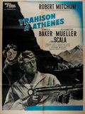 Miscellaneous:Movie Posters, [Movie Posters]. [Robert Mitchum and others]. Trahison aAthenes (The Angry Hills). French Affiche. ...