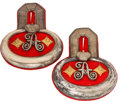 Militaria:Uniforms, Imperial German Empress Augusta Garde-Grenadier Regiment No. 4 Banjo Shoulder Boards....