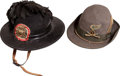 Militaria:Uniforms, Lot of Two Italian Military Hats: Bersaglieri and Alpini....(Total: 2 Items)