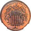 1875 5C Five Cents, Judd-1387, Pollock-1531, R.8, PR66 Red and Brown NGC. CAC....(PCGS# 71694)
