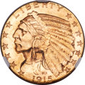 Indian Half Eagles, 1915-S $5 MS64+ NGC....