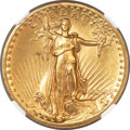 High Relief Double Eagles, 1907 $20 High Relief, Flat Rim MS62 NGC....