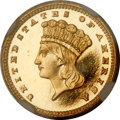 Proof Gold Dollars, 1885 G$1 PR64 Cameo NGC....