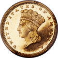 Proof Gold Dollars, 1880 G$1 PR62 Cameo PCGS. CAC....