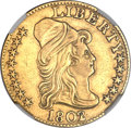 Early Half Eagles, 1802/1 $5 -- Improperly Cleaned -- NGC Details. AU. BD-1, HighR.4....