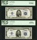 Small Size:Silver Certificates, Fr. 1650 $5 1934 Silver Certificates. Four Examples PCGS Gem New 65PPQ-Superb Gem New 67PPQ.. ... (Total: 4 notes)
