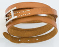 Luxury Accessories:Accessories, Hermes Vache Naturelle Leather Hapi 3 GM Bracelet with Palladium Hardware. ...
