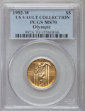 Modern Issues, 1992-W G$5 Olympic Gold Five Dollar MS70 PCGS. Ex: U.S. Vault Collection. PCGS Population (351). NGC Census: (0). Mintage: ...