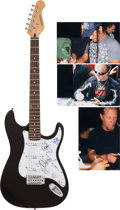 Music Memorabilia:Autographs and Signed Items, Metallica Signed Guitar.... (Total: 2 Items)