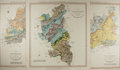 """Miscellaneous:Maps, Three British Maps by Surveyor W. Smith. London, February 1820.Measuring 10"""" x 26"""", each hand-colored map depicts geologica..."""
