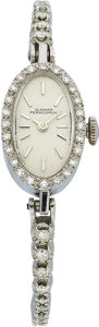 Estate Jewelry:Watches, Girard Perregaux Lady's Diamond, White Gold Wristwatch. ...
