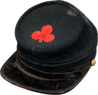 Civil War New Hampshire Enlisted Man's Kepi with Original 2nd Corps, 1st Division Cloth Corps Badge