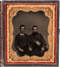 Photography:Tintypes, Sixth Plate Tintype Possibly of Civil War Era Firemen....