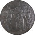 Political:3D & Other Display (pre-1896), Czar Alexander III: Plaque Commemorating the French Alliance of 1892....