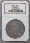 Seated Dollars: , 1847 $1 AU53 NGC. NGC Census: (36/244). PCGS Population (46/186).Mintage: 140,750. Numismedia Wsl. Price for problem free ...