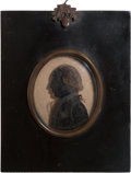 """Military & Patriotic:Revolutionary War, """"Mad Anthony"""" Wayne: Silhouette on Glass Wall Plaque...."""