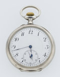 Timepieces:Pocket (post 1900), English Hallmarked Silver Open Face Pocket Watch. ...