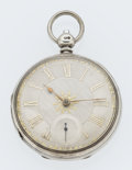 Timepieces:Pocket (pre 1900) , Swiss Silver Lever Fusee Pocket Watch. ...