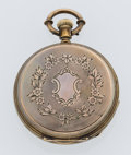 Timepieces:Pocket (pre 1900) , H. Huguenin Swiss Gold Hunter's Case Pocket Watch. ...