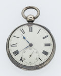 Timepieces:Pocket (pre 1900) , Hugh Moor Bankor Sterling Silver Verge Fusee Pocket Watch. ...