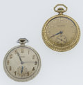 Timepieces:Pocket (post 1900), Waltham & Gruen 12 Size Pocket Watches. ... (Total: 2 Items)